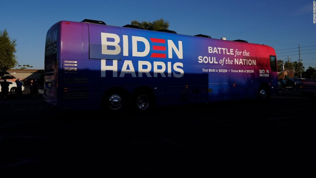 Biden campaign cancels Texas event after Trump supporters block the bus on the highway