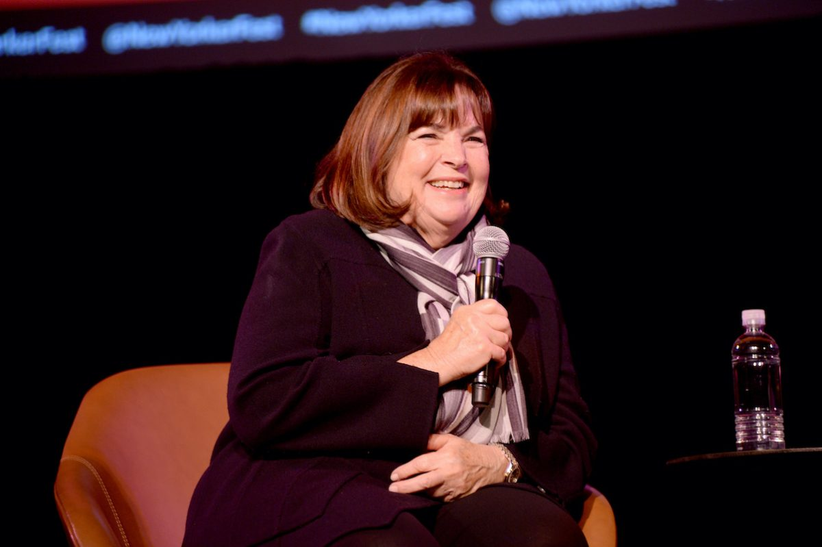 Ina Garten speaks on stage at the 2019 New Yorker Festival