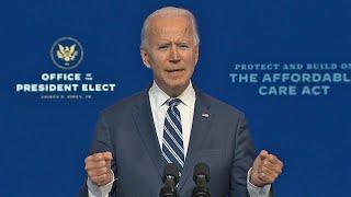 "Joe Biden describes Trump's lack of compromise as an ""embarrassment"" as the transition begins"
