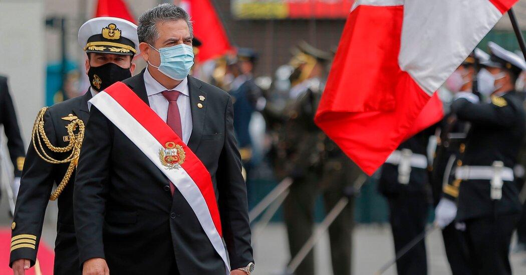 Peruvian president resigns - New York Times