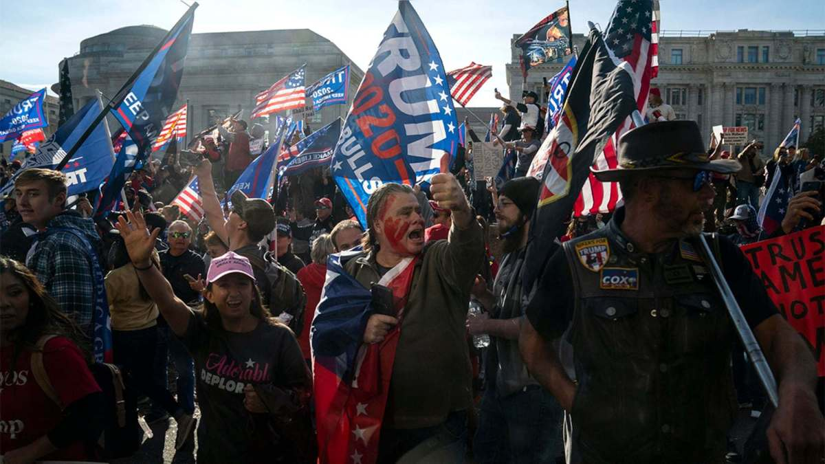 Reports: Thousands of Trump supporters march in the capital