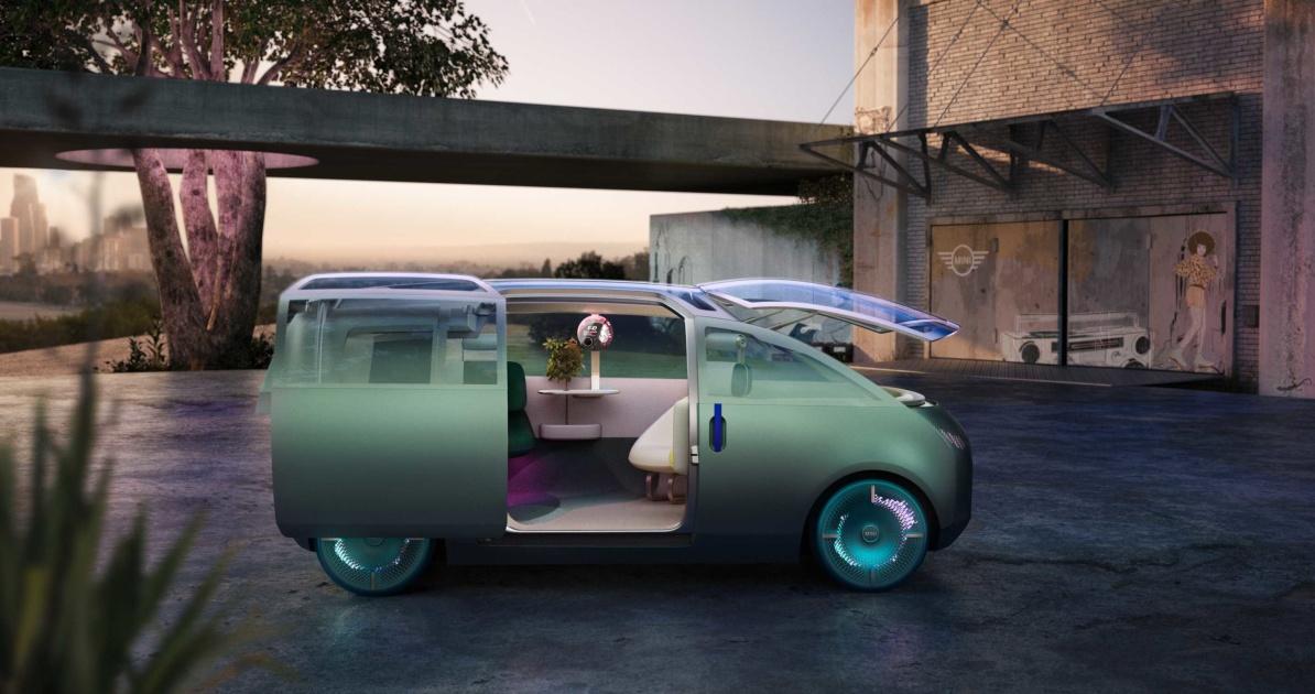 The Mini's Vision Urbanaut looks like a living room on wheels