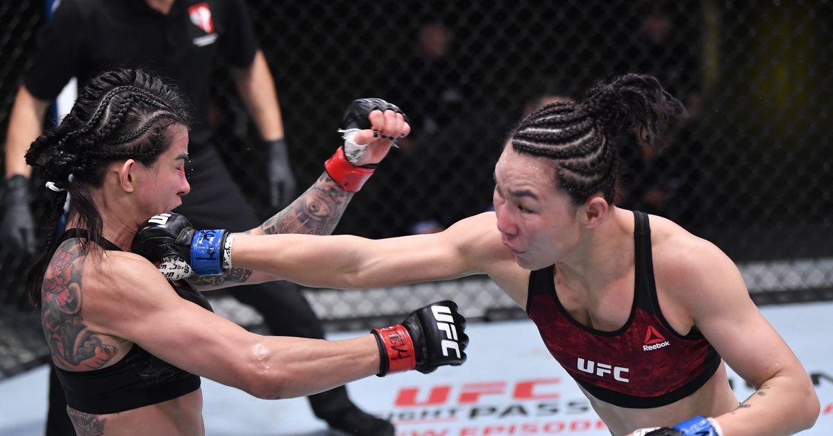UFC Vegas results 13: Yan Xiaonan showed fast hands, amazing volume to beat Claudia Gadelha
