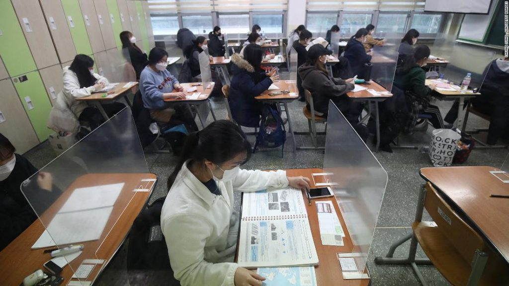 COVID-19 cases rise in South Korea, but half a million students sit for the CSAT university entrance exam