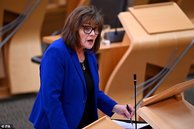 Announcing the rapid test pilot, Scottish Health Minister Jane Freeman announced that the tests would provide another important layer of protection against Covid.  Pictured: Speaks at the Scottish Parliament last week