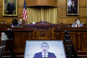 Mark Zuckerberg speaks during a hearing of the House Judicial Subcommittee on Antitrust Law and Commercial and Administrative Law, on Capitol Hill, July 29.
