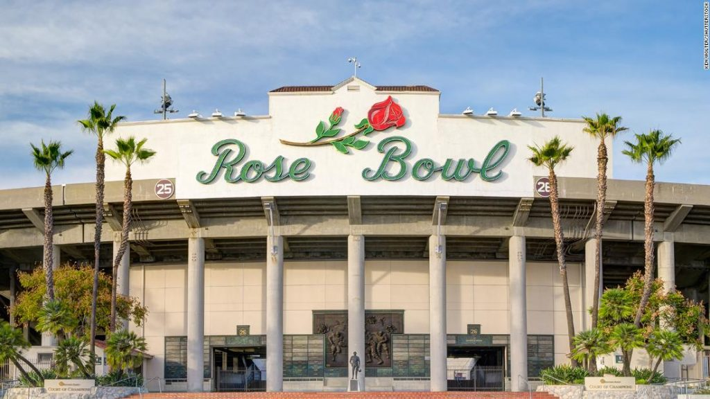 The semi-final of the college football game at Rose Bowl moved to Texas due to Covid-19 restrictions