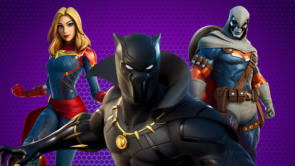 Black Panther, Captain Marvel and Taskmaster joined Fortnite