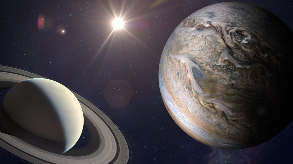 Jupiter and Saturn have appeared closer together since 1623