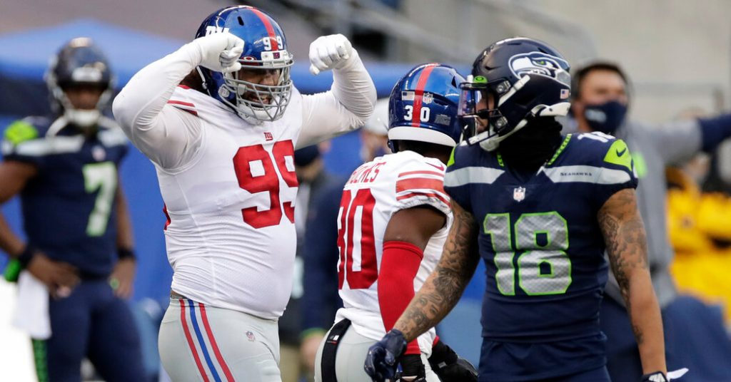 The Giants overtake the Seahawks in the biggest upheaval of the season