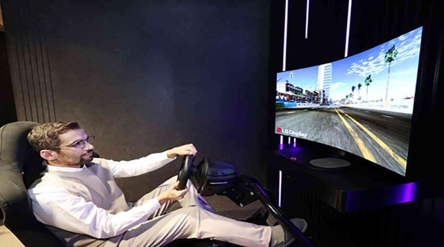 """A bendable OLED display with sound for gaming fans from """"LG"""" - technology"""