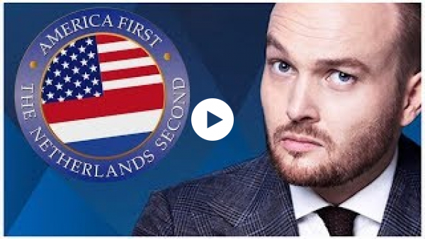 Arjen Lubach is splashing out with America First, The Netherlands Second