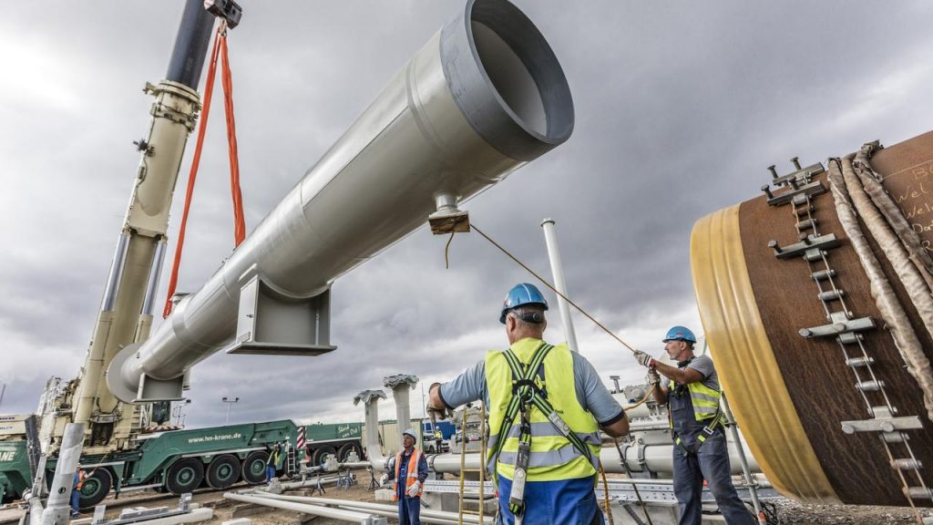 The construction of the controversial gas pipeline from Russia to Germany may continue  right Now