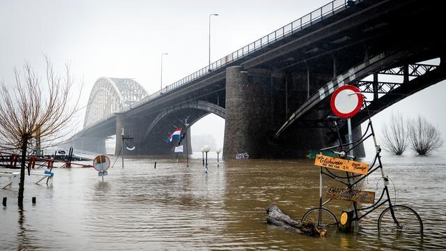Water altitude near Nijmegen.