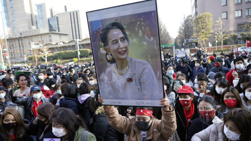 Not yet a sign of life for Aung San Suu Kyi, the party is calling for her release