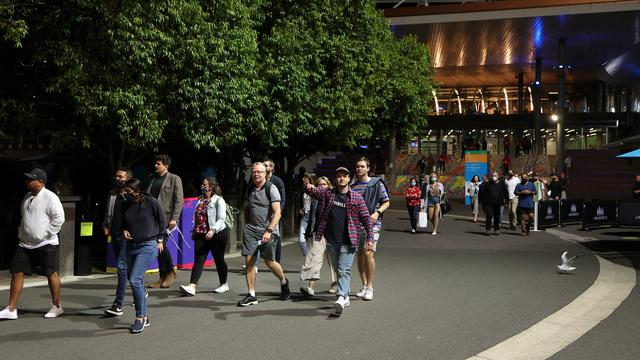 The fans were forced to leave the Rod Laver Arena on Friday during the match between Novak Djokovic and Taylor Fritz.