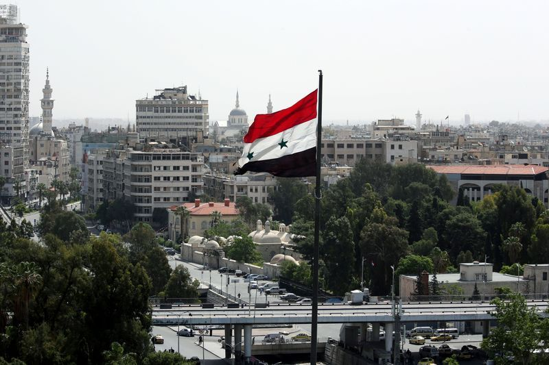 "The Syrian army said that the air defense had responded to ""Israeli aggression"" against Damascus"