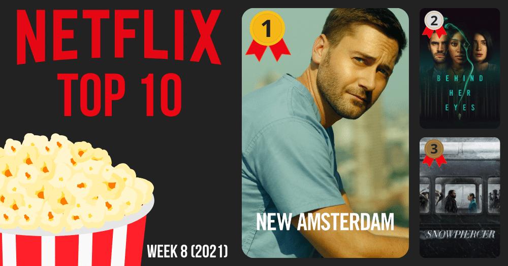 Netflix Top 10 meest bekeken België week 8 2021
