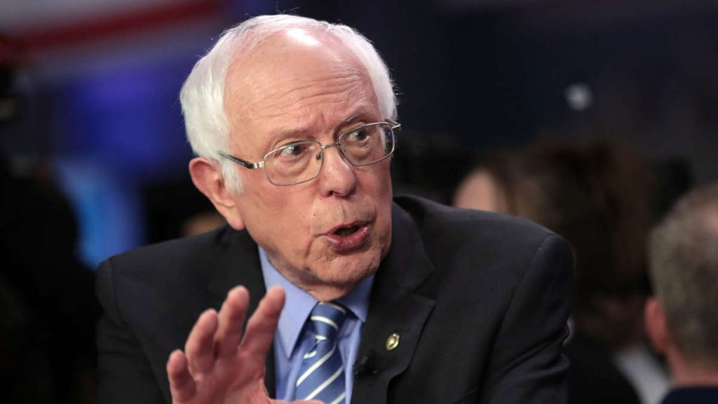 """A level of greed that is """"immoral and unbearable"""" according to Sanders"""