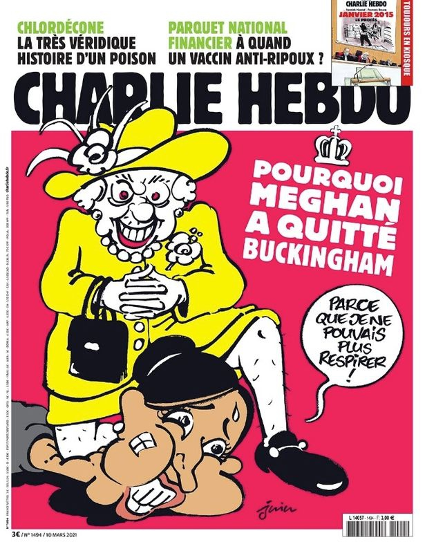 Charlie Hebdo comes under fire after a caricature of Meghan Markle