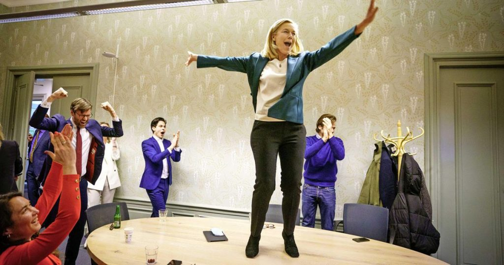 """Kaag dances on the table in D66: """"Happy for the floor raised"""" 