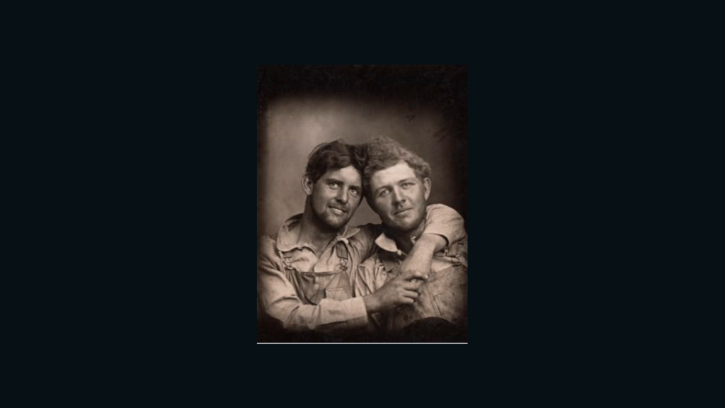 He published a book with photographic memories of gay couples