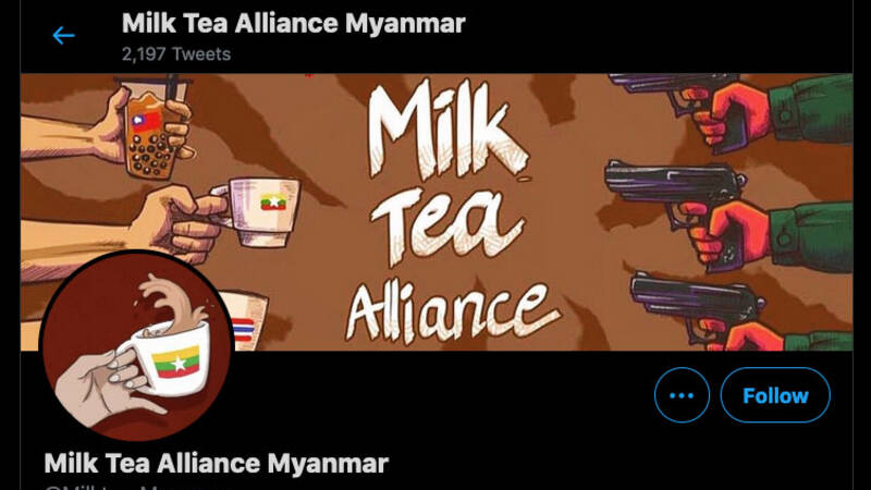 Milk tea against persecution in Myanmar