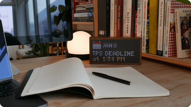 Tidbyt - smart screen with a futuristic style