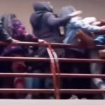 Videos of the moment students in Bolivia fell into a void after making way for a fender at UPEA