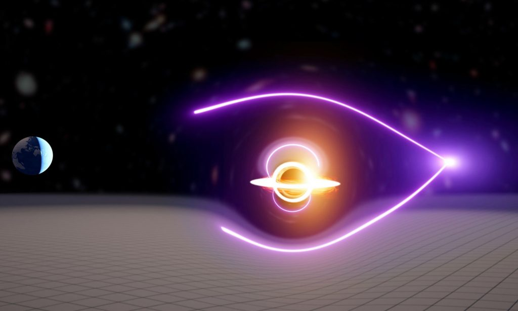 The radiation burst indicates the presence of an elusive medium-sized black hole