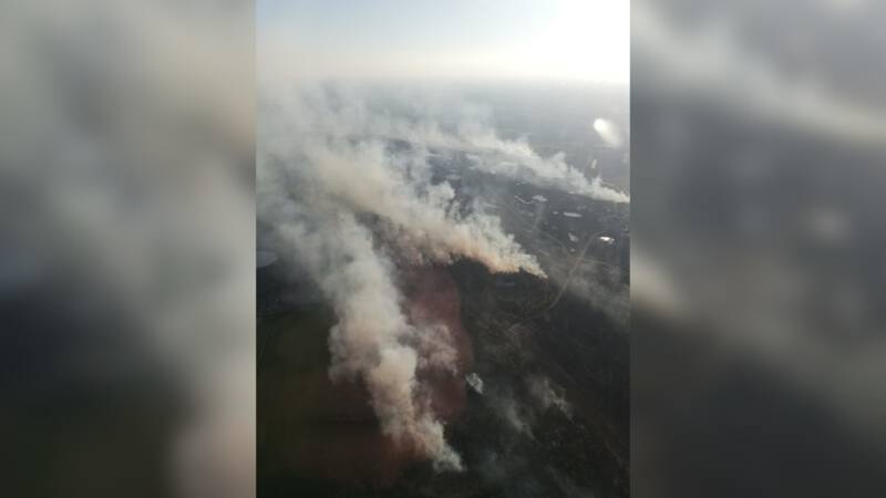 Great wildfire in Flanders after an army exercise
