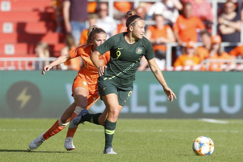 Matildas against the Netherlands in 2019