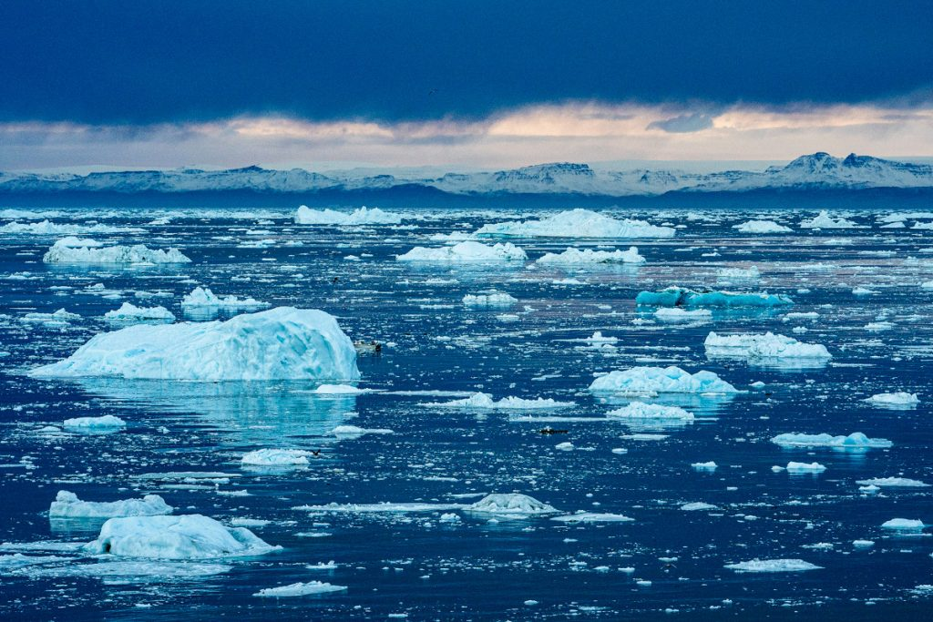 Melting of ice caused by climate change is changing the Earth's poles