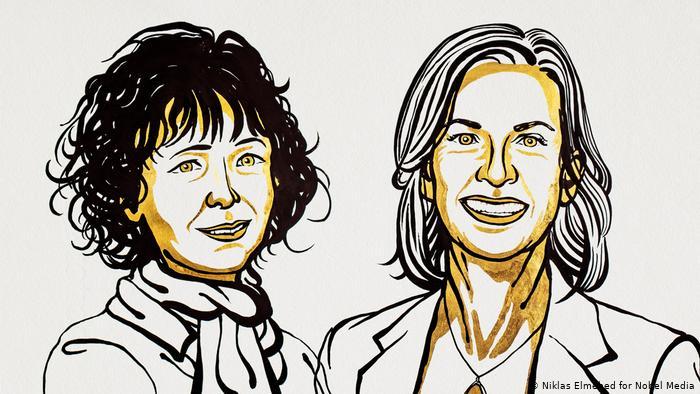 2020 Nobel Prize in Chemistry Emmanuel Sharpentier, Jennifer A. Dodna