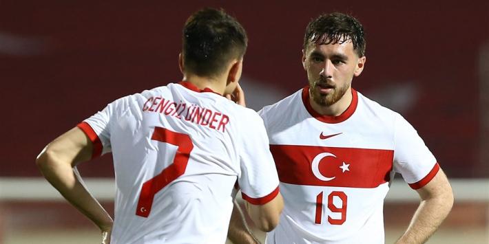 Kökcü en Dervisoglu helpen Turkije aan nipte oefenzege