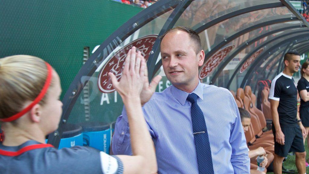 Brett succeeds Mark Parsons (34) Wegman as the national coach of football players