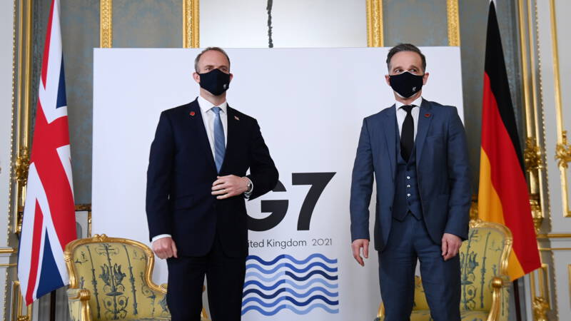 """G7 ministers criticize """"evil"""" Russia and """"authoritarian"""" China"""