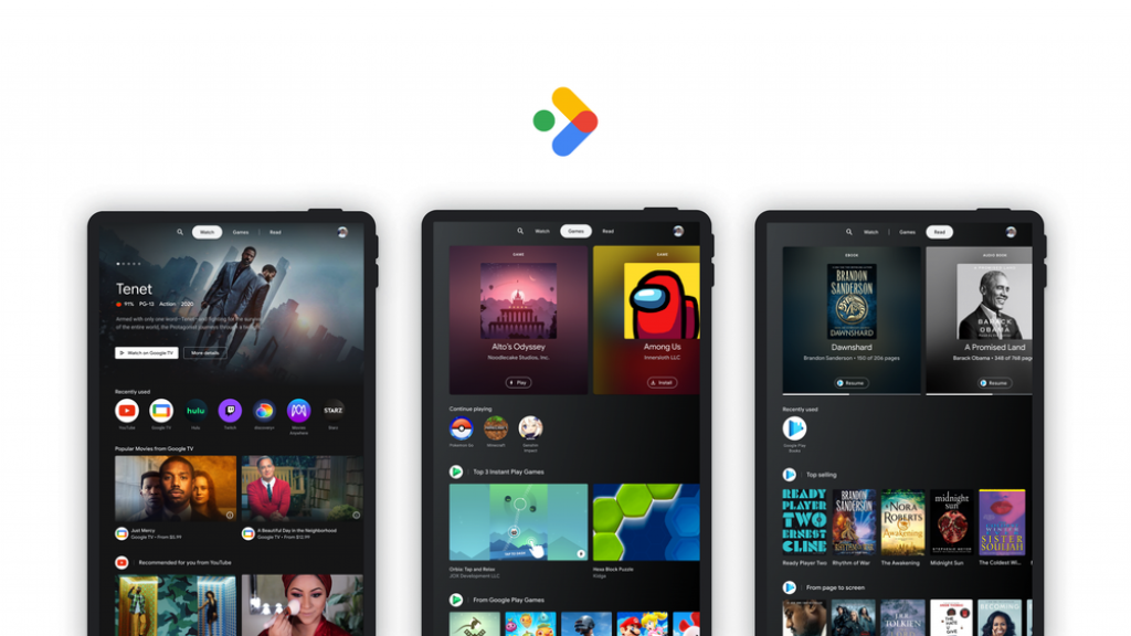Google will collect display, playback and reading content on the Android tablet