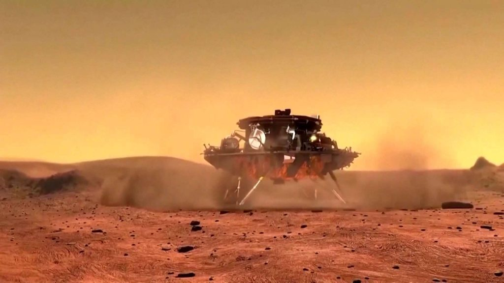 The Chinese Mars rover Zhurong has reached the red planet
