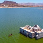 The sunken church returns to the surface decades later due to the ongoing drought in Mexico