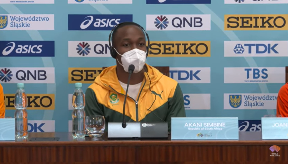 The South African team, including the Commonwealth champion in the 100m Akane Sempin, took more than 30 hours to travel to attend the event in Poland © World Athletics