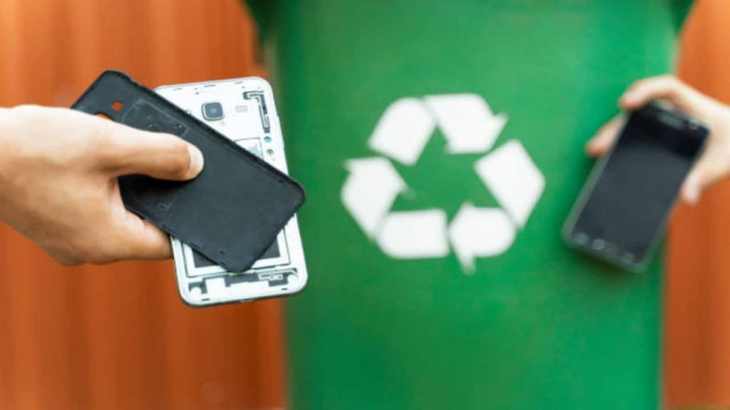 So you can recycle old cell phones that you don't use