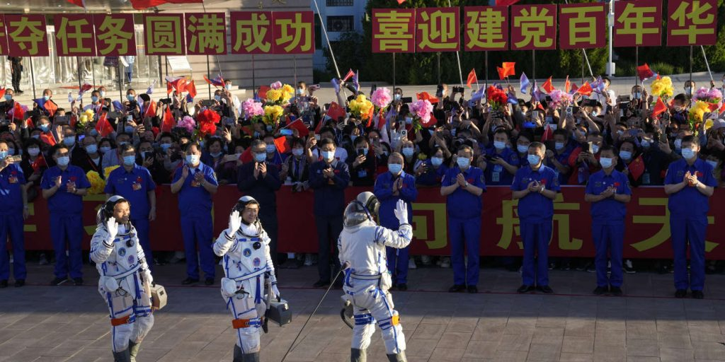 China sent three astronauts to its space station