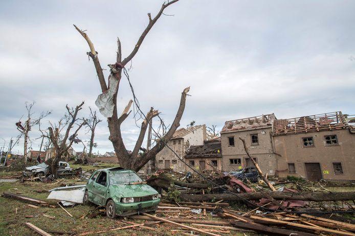 Mass destruction in the village of Muklesisi.