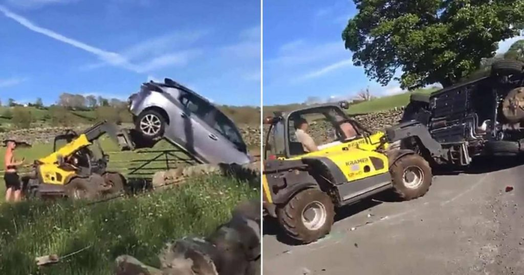 Farmer makes short work of wrong Parker: Knocked car and car driver |  the cars