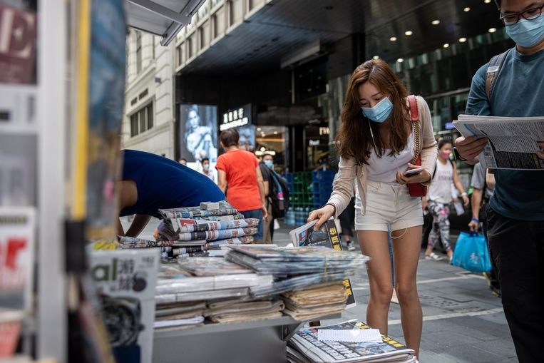 Hong Kong's pro-democracy newspaper runs, a day after the police raided the editorial office and arrested the executives