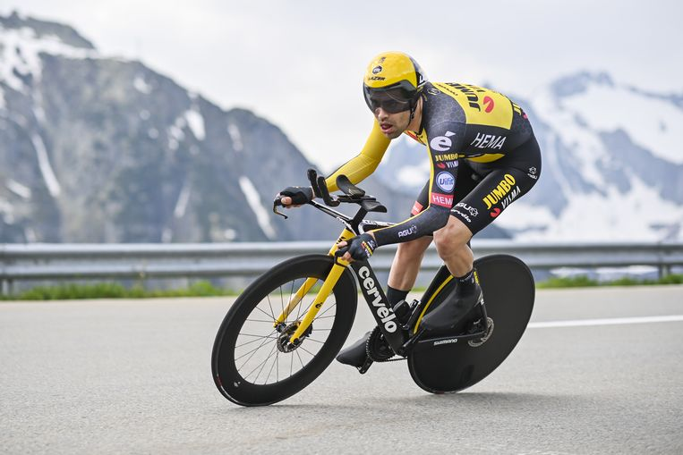 Tom Dumoulin is satisfied after the second test on his test bike in Switzerland