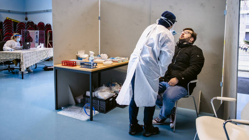 Two free PCR tests for Belgians • Nearly 11 million shots taken