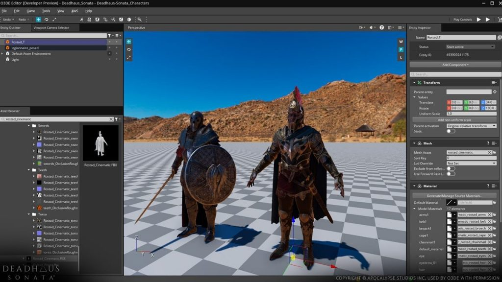 """The Amazon """"Lumberyard"""" game engine is now open source.  Reborn as """"Open 3D Engine"""" 