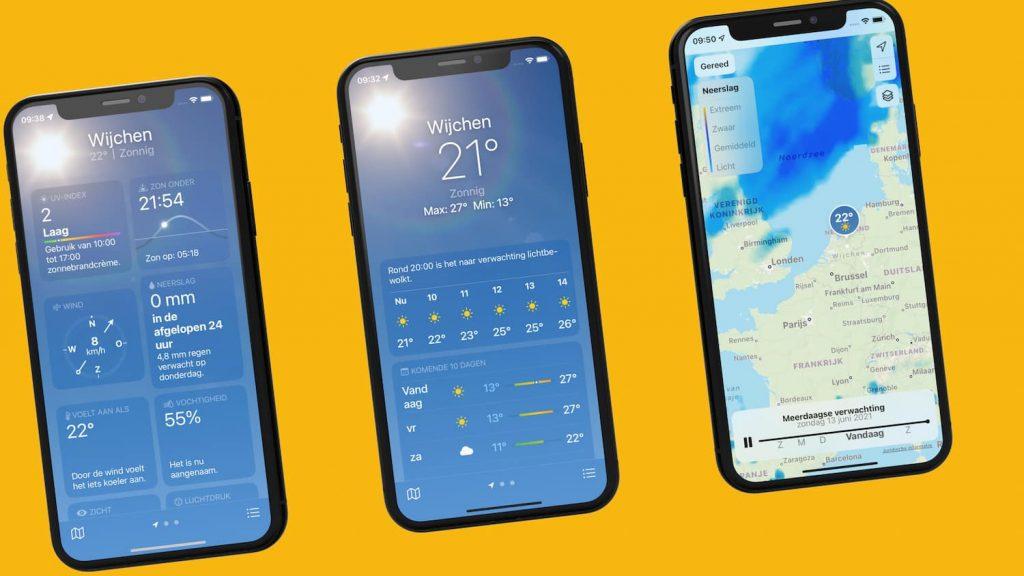 iOS 15 weather app makes Buienradar and Buienalarm redundant